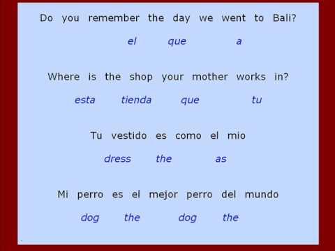 Ejercicios Para Traducir Frases De Ingles A Espanol Como