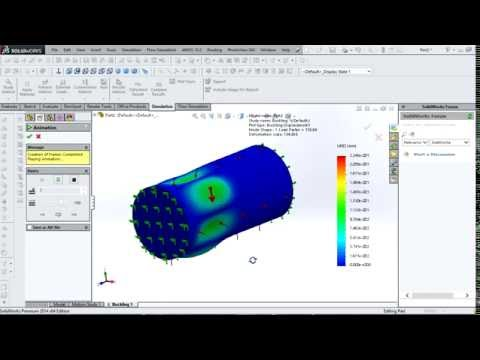 Buckling Test in Underwater Robot small Tube using SolidWorks-Indonesia