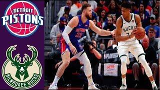 Milwaukee Bucks vs Detroit Pistons Full Game Highlights - NBA Season 2019
