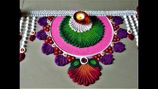 Very Easy and Beautiful Rangoli Designs For Bhai Beej| Diwali Rangoli by Shital Mahajan.