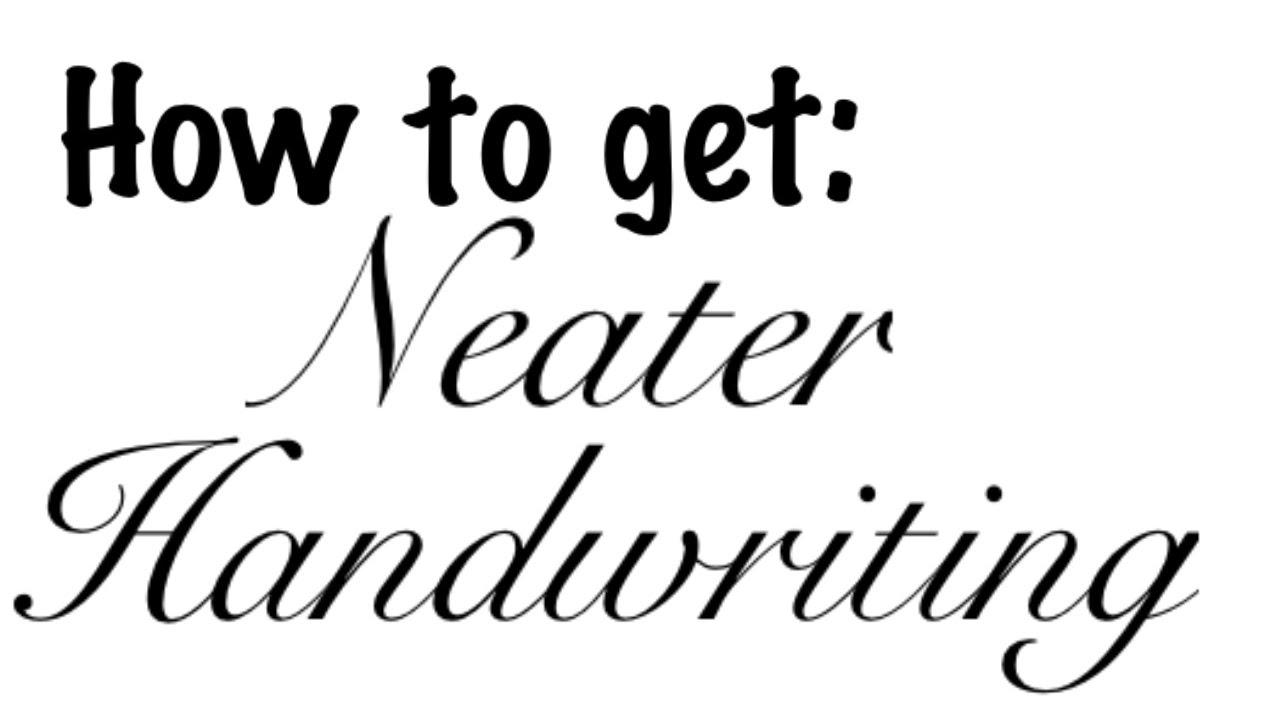 Want neater handwriting? Learn to write again! - YouTube