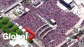 Crowds take over much of downtown Toronto as celebrations continue