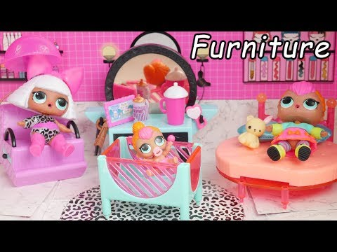 LOL Surprise Dolls New Doll house Furniture with Barbie Wedding Goldie