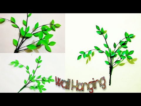paper-leaf-wall-hanging-tutorial---easy-wall-decoration-craft-idea-||-learn-craft