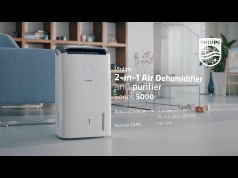 Philips 2-in-1 Air Dehumidifier & Purifier 5000 Series