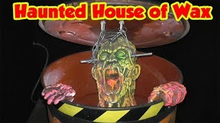 Halloween House of Wax with Animatronics and Fan Visit | DavidsTV