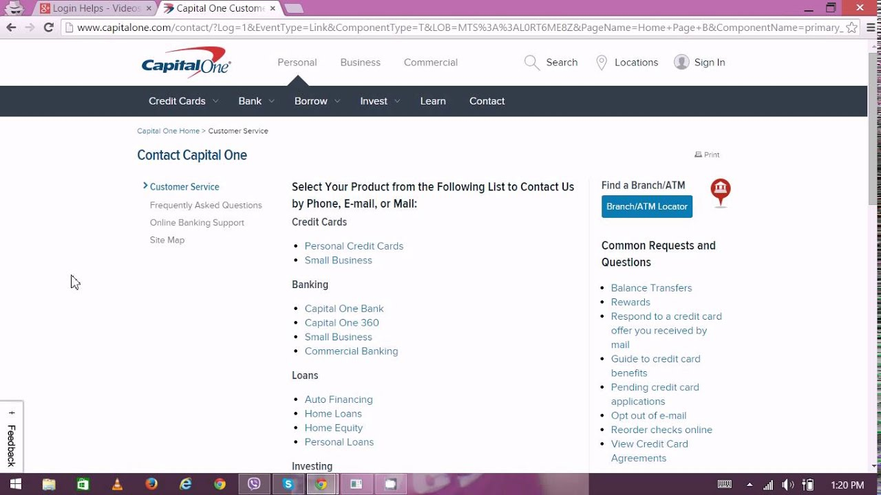 Capital One 360 Customer Services - Capital One Online Banking
