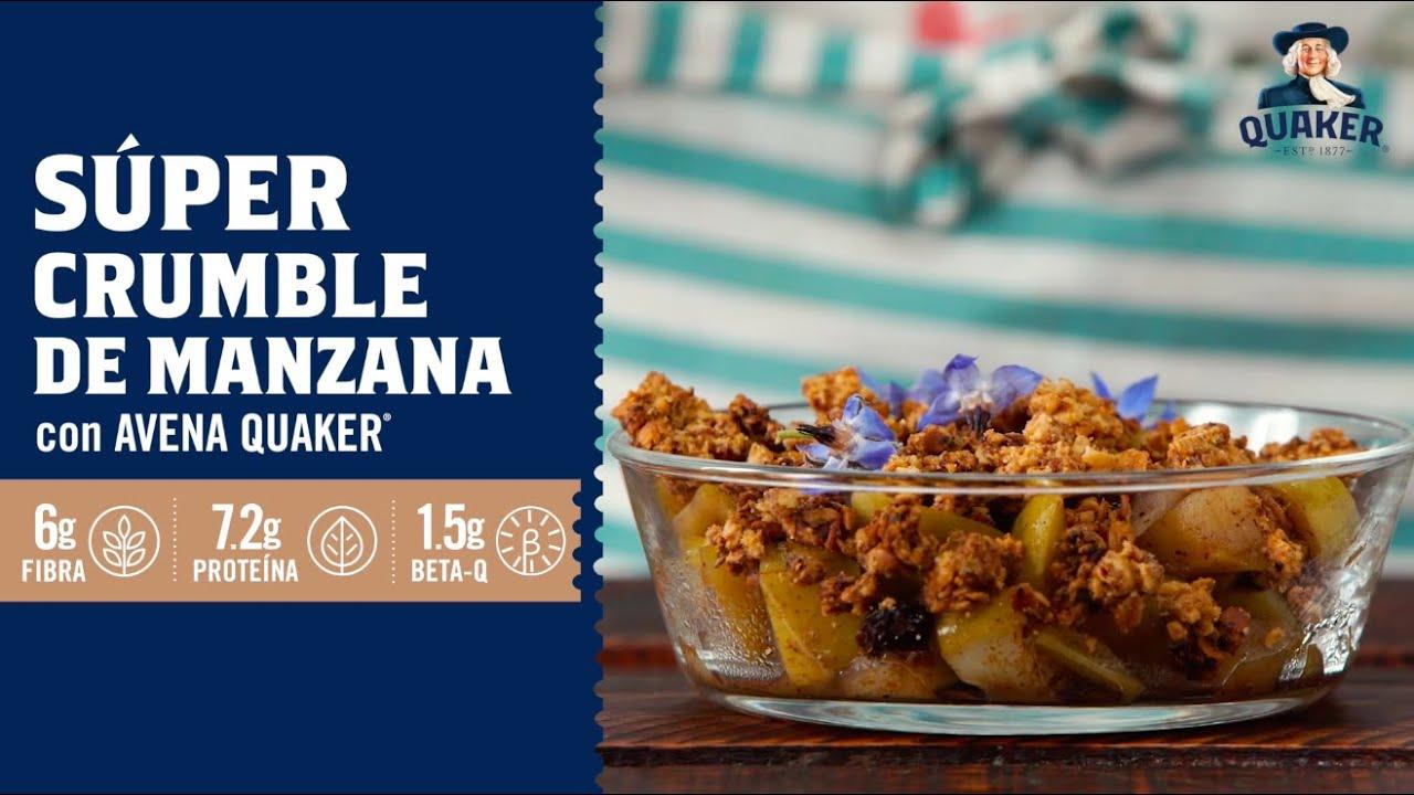 Súper Crumble de Manzana con Avena Quaker®