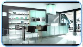 Small Blue Modern Kitchens Designs