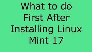 What To Do After Installing Linux Mint 17 - Franks Helpdesk