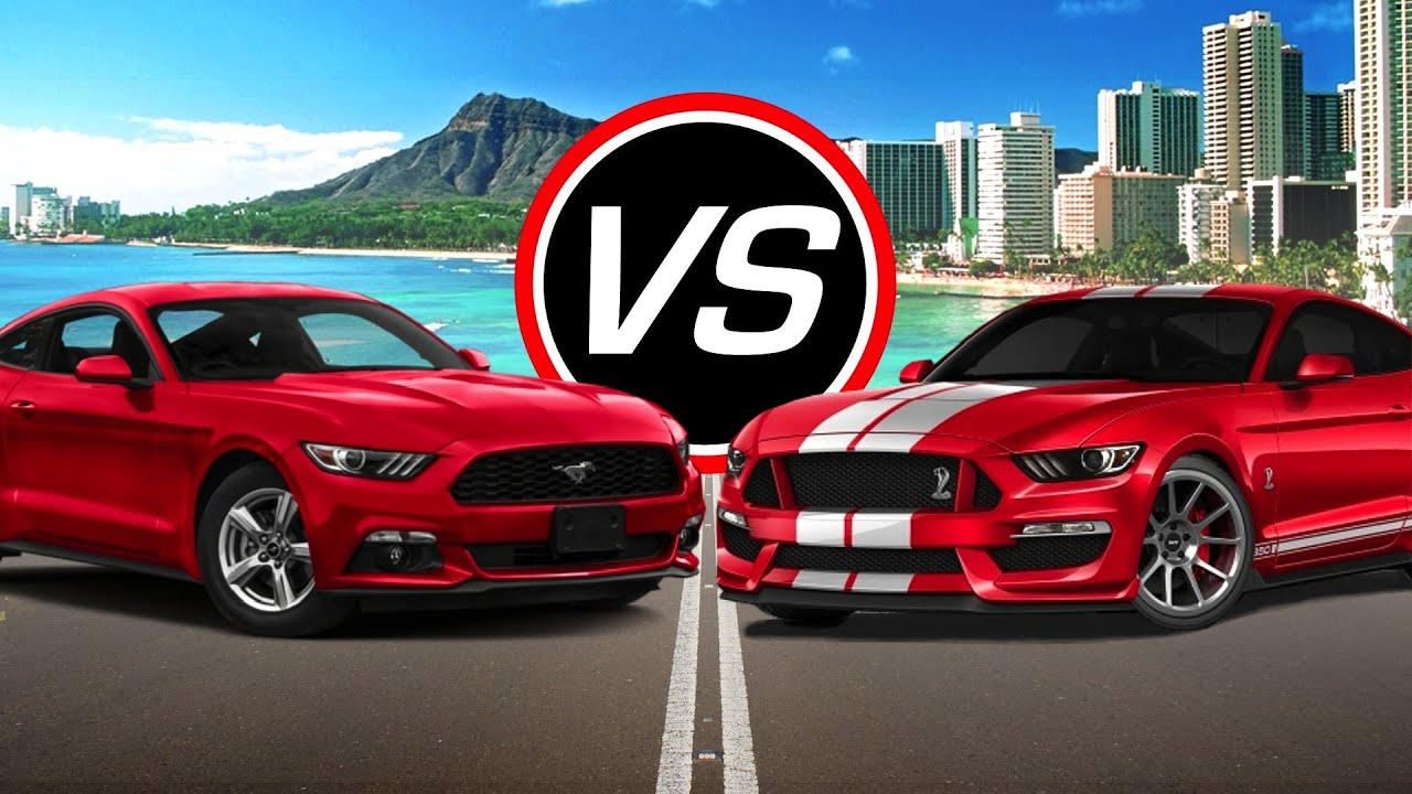2016 Ford Mustang V6 vs Mustang Shelby GT350 - Spec Comparison ...