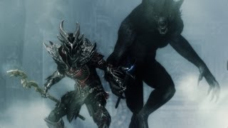 Werewolf and Werebear Slaughter Ghost Pirates - Skyrim Dragonborn DLC