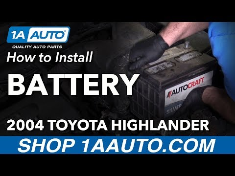How to Install Replace Battery 2004 Toyota Highlander