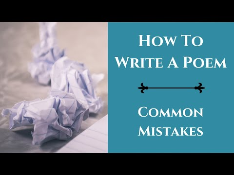 6 Common Mistakes Beginner Poets Make