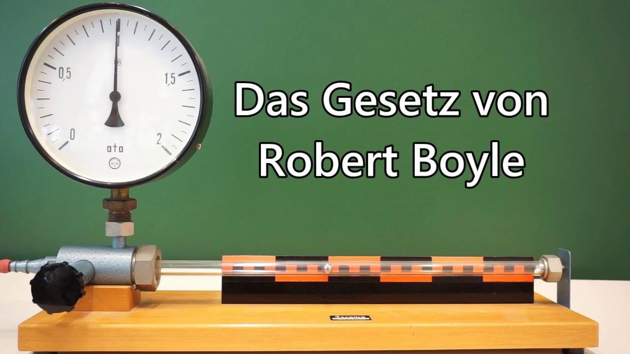 Gesetz von Robert Boyle (Boyle-Mariottesches Gesetz) - YouTube
