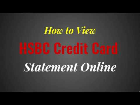 How to View HSBC Credit Card Statement Online