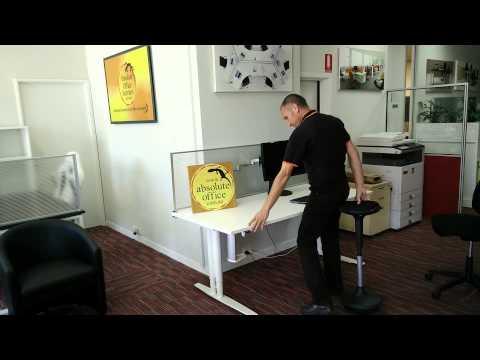electric height adjustable desk 1 duration 018 absolute office interiors 737 views absolute office interiors