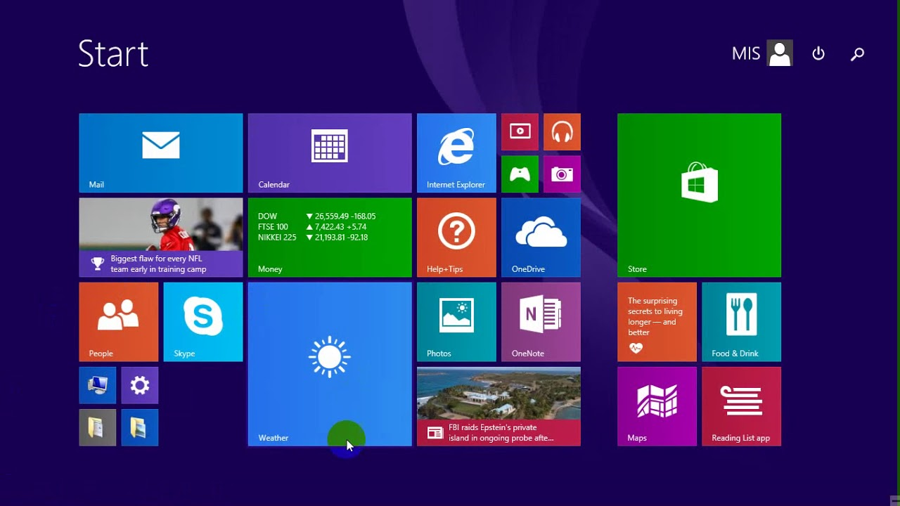 Recover Icon Desktop In Start Menu Windows 8 1