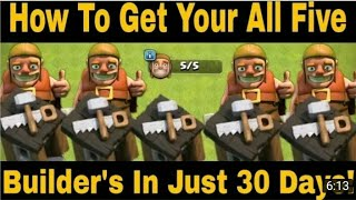 How to get all five builder huts easily in 30 days🤔🤔in Clash of Clans by Coc Boss