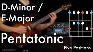 D Minor- / F Major Pentatonic - Five Positions