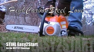 STIHL Easy2Start On the Outstanding MS211C-BE Chainsaw