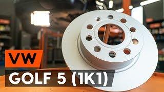 Como substituir discos de travão traseira noVW GOLF 5 (1K1) [TUTORIAL AUTODOC]