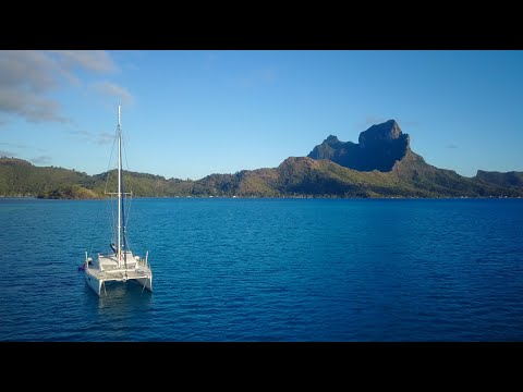 Sailing in French Polynesia (Bora Bora, Raiatea, Tahaa) Drone
