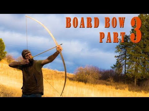 Woodworking ideas – How to build a primitive wood bow from a maple board Part 3