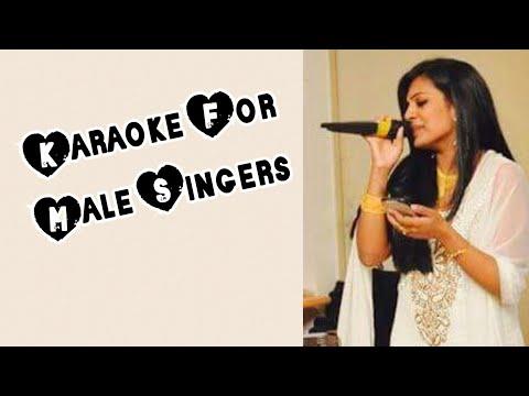 Malare Mounama - Karna Karaoke for Male Singers