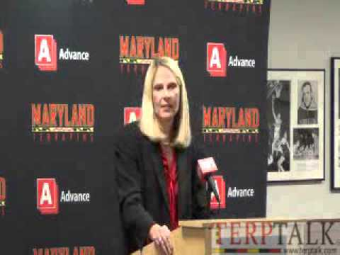 Brenda Frese press conf Media Day 2015 Maryland Women's Hoops