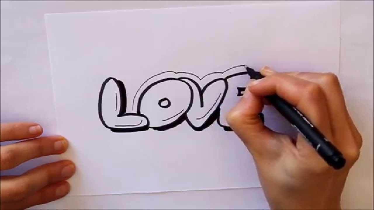 Cmo dibujar Love letras Dibuja Conmigo Dibujos de Amor  YouTube