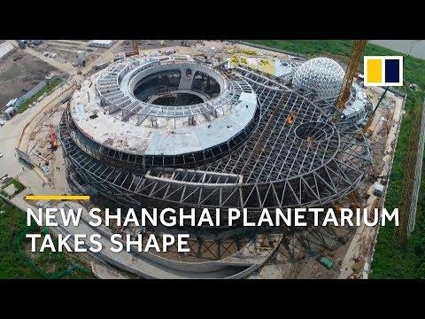 Shanghai Planetarium starts to take shape