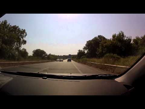 Patras (Zarouchleika) to Kalogria beach (Greek National Road 9 - highway driving) - onboard camera