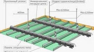 Подвесной реечный потолок монтаж своими руками. Обучение.(Монтаж реечного потолка своими руками -- не такой уж и сложный процесс. Достаточно обладать минимальными..., 2013-11-25T18:59:28.000Z)