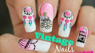Decoración de uñas vintage 4 Diseños - Vintage nail art thumbnail