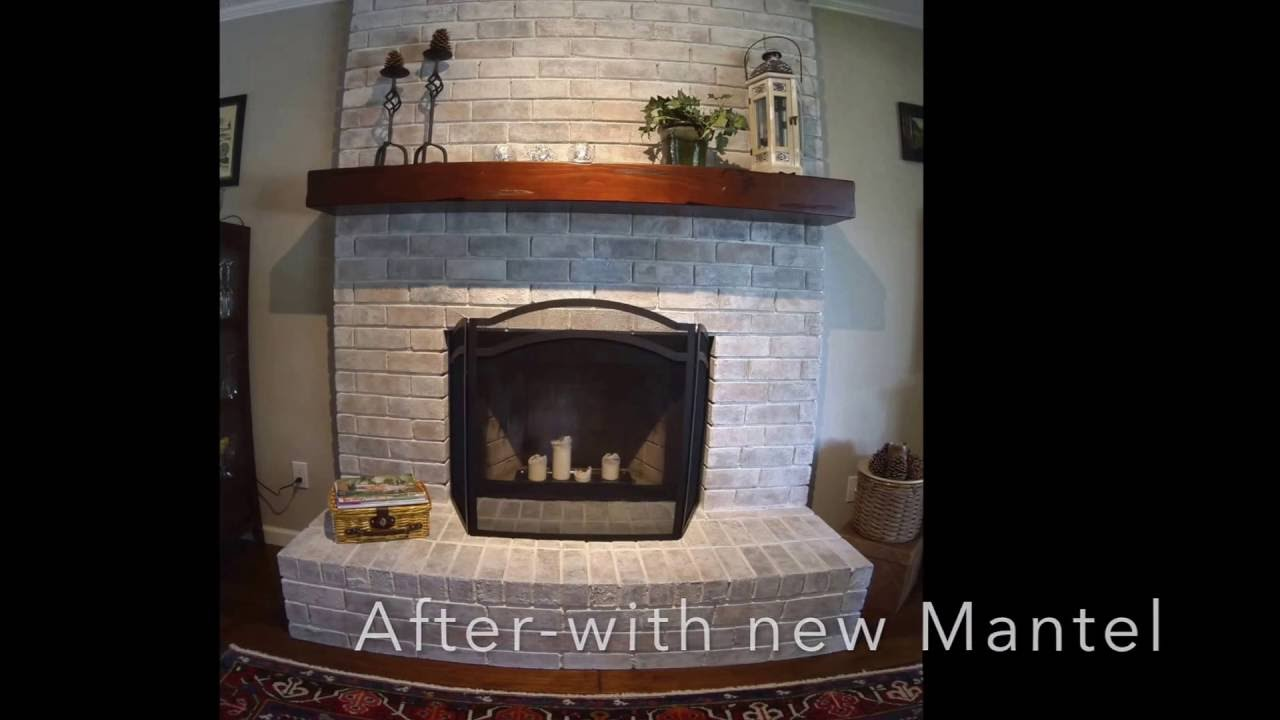 Fireplace Whitewash - YouTube