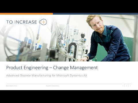 Product Engineering Change Management in Microsoft Dynamics AX 2012