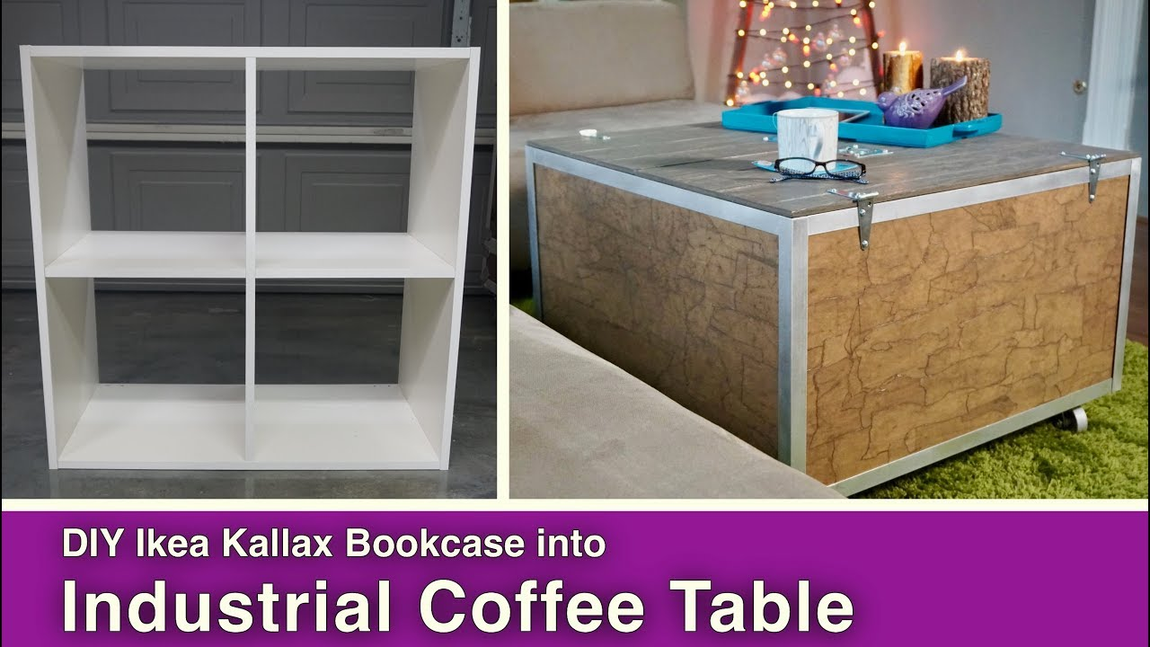 Ikea Hack Diy Coffee Table With Storage Youtube
