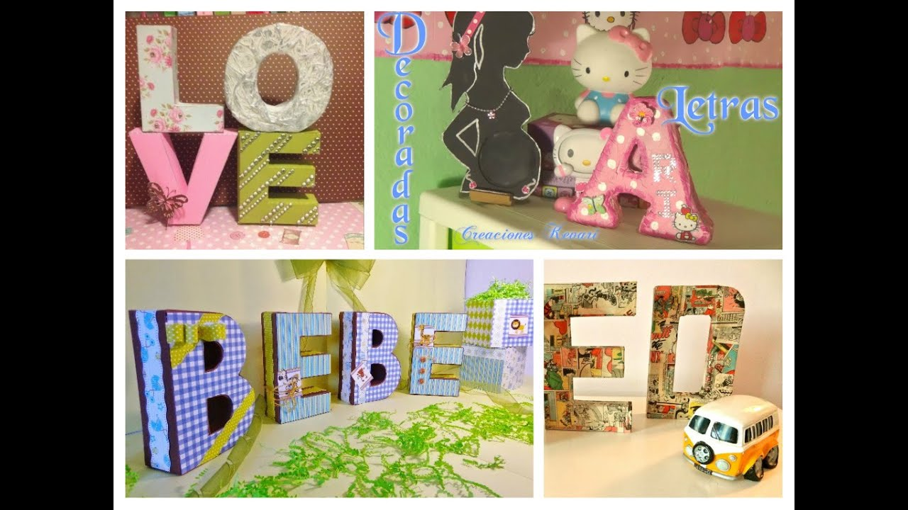 Letras 3d decorativas diy crafts 3d letters room decor - Decoracion con reciclaje para el hogar ...