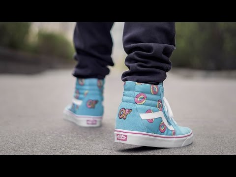 MOST AFFORDABLE HYPE COLLAB SNEAKER (ODD FUTURE VANS SK8 HI ON FEET REVIEW