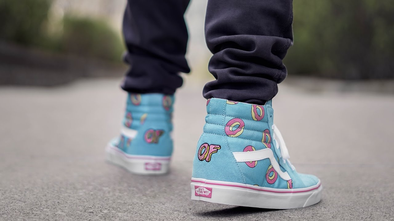 0bfe77b976 MOST AFFORDABLE HYPE COLLAB SNEAKER (ODD FUTURE VANS SK8 HI ON FEET REVIEW