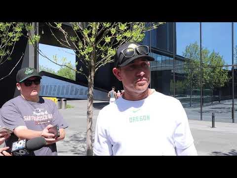 Video: OC Marcus Arroyo after Oregon's Thursday practice