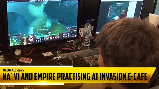 Na`Vi and Empire practising at Invasion e-Cafe @ Major All Stars