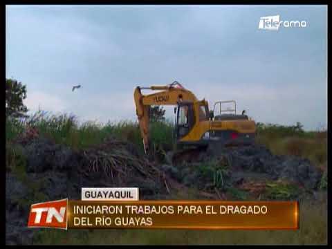 Iniciaron trabajos para el dragado del Río Guayas