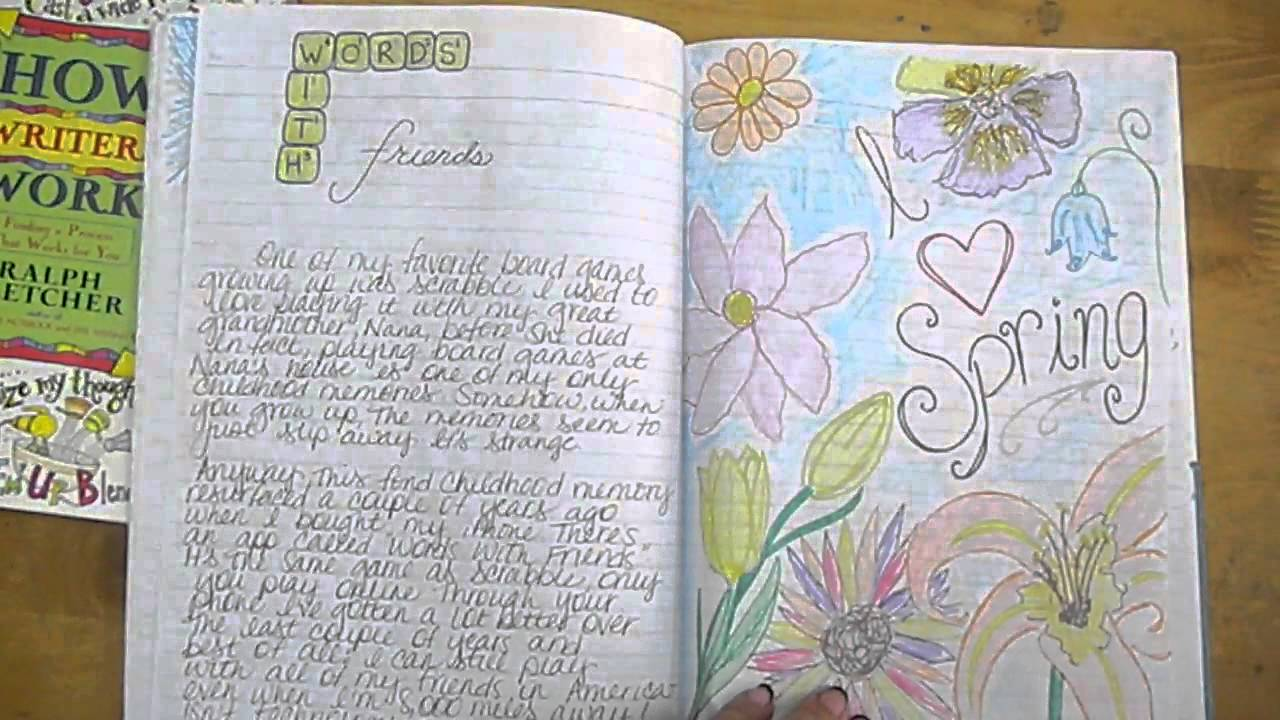 My Writer's Notebook - YouTube