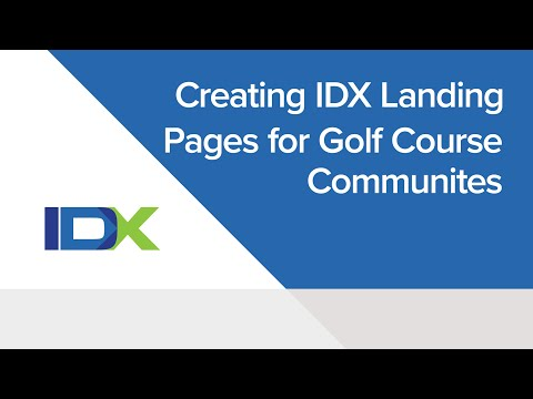 Creating IDX Landing Pages for Golf Course Communities
