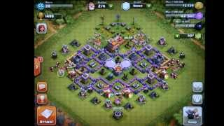 Clash of Clans TH7 Farming Defense - New and Old