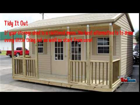 Shed4less how you can organize a storage shed youtube for Sheds 4 less