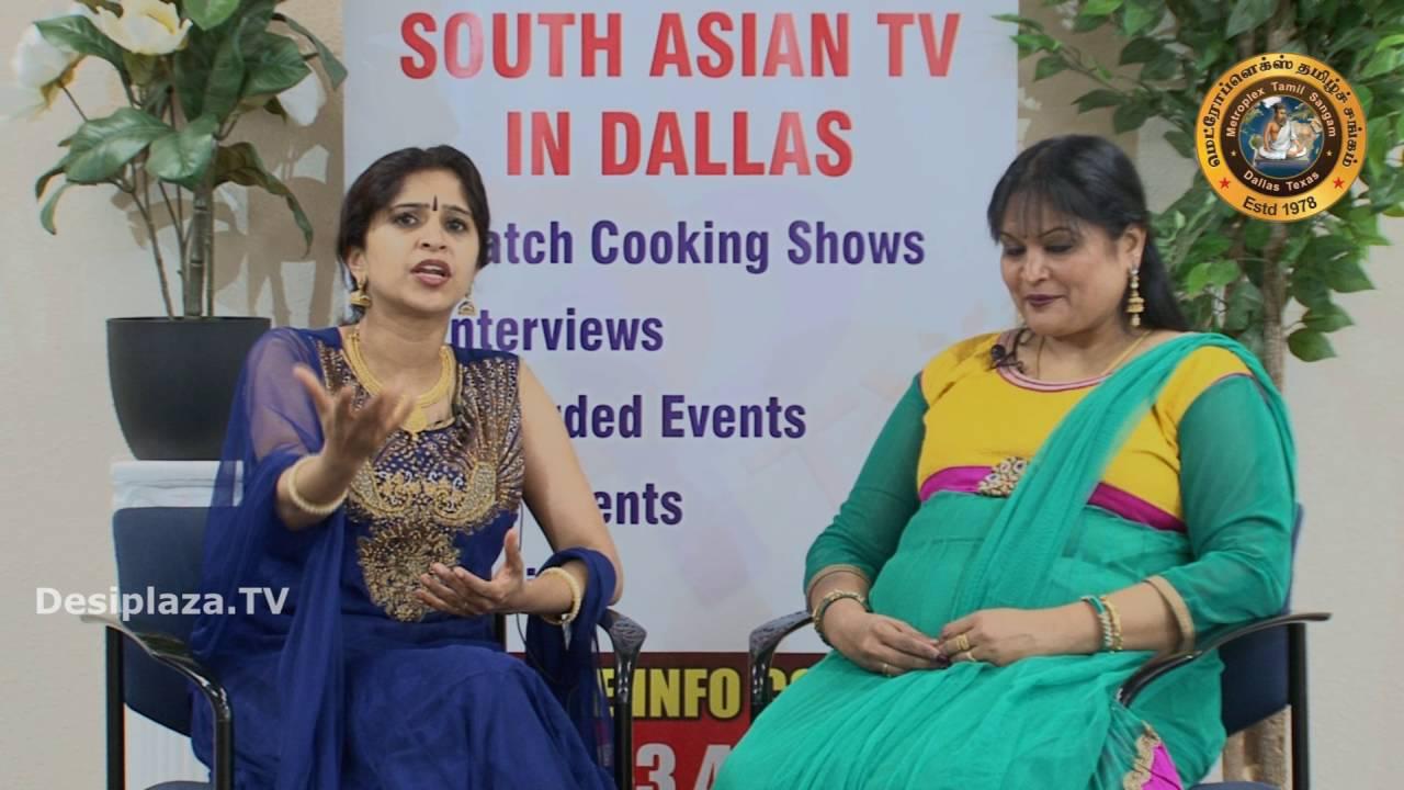 "Gomathy Periathiruvadi from MTS interviewing Rama Suresh from ""Nala Thamayanthi""."