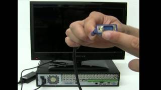 How to connect a Digital Video Recorder (DVR) to a Monitor